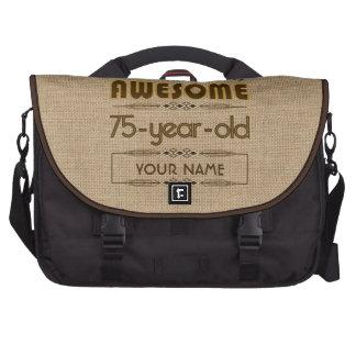 75th Birthday Celebration World Best Fabulous Laptop Messenger Bag