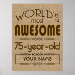75th Birthday Celebration World Best Fabulous Print