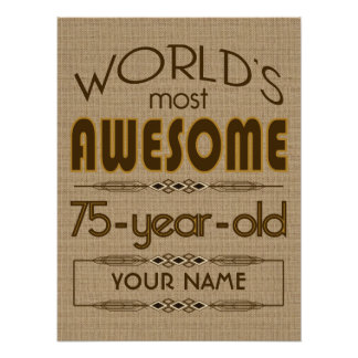 75th Birthday Celebration World Best Fabulous Poster