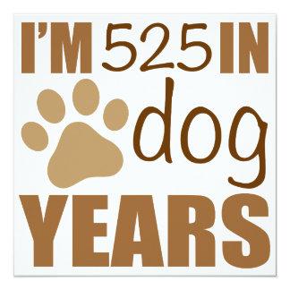 75th Birthday Dog Years Card