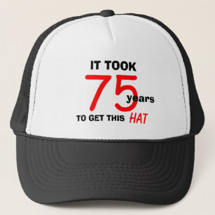 75th Birthday Gag Gifts Hat For Men