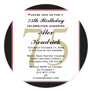 75th Birthday Invitations Announcements Zazzle