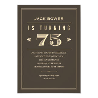 75th Birthday Invitations for Men