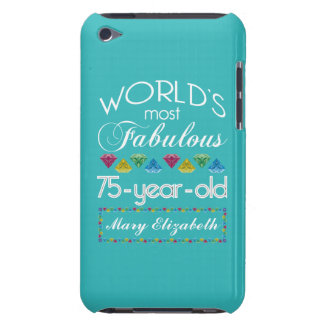75th Birthday Most Fabulous Colorful Gem Turquoise iPod Case-Mate Case