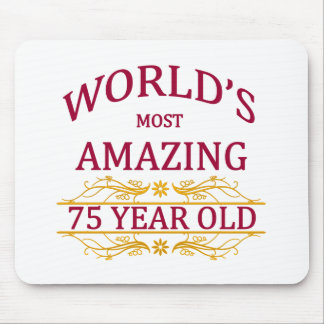 75th. Birthday Mouse Pad