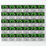 "[ Thumbnail: 75th Birthday - Nerdy / Geeky Style ""75"" and Name Wrapping Paper ]"