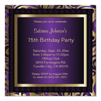 75th Birthday Party Card