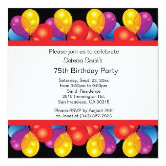 75th Birthday Party   DIY Text Card