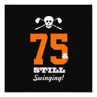 75th Birthday Party Golf - Still Swinging! Invitation