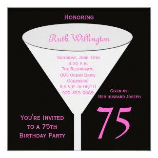 75th Birthday Party Invitation -- 75th Toast