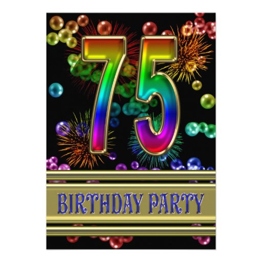 Personalized 75th birthday party Invitations – 75th Birthday Party Invitations