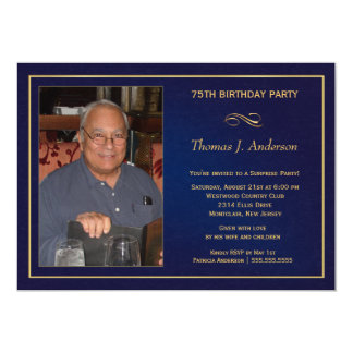 75th Birthday Party Invitations - Add your photo