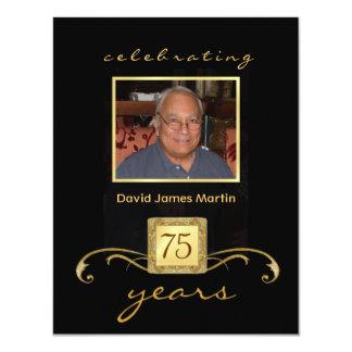 75th Birthday Party Invitations - Formal Monogram