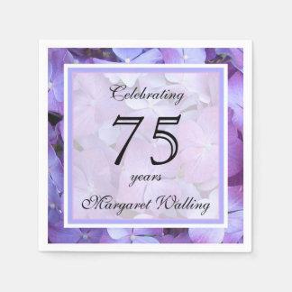 75th Birthday Party Paper Napkins Standard Cocktail Napkin