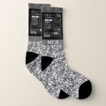 75th Birthday Party Special Personalized Monogram Socks