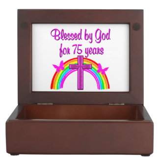 75TH BIRTHDAY PRAYER PERSONALIZED DESIGN KEEPSAKE BOX