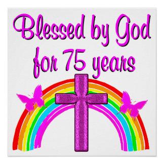 75TH BIRTHDAY PRAYER PERSONALIZED DESIGN POSTER