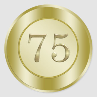 75th Birthday Sticker