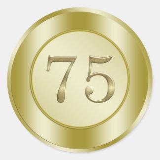 75th Birthday Sticker