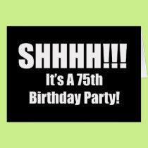 75th Birthday Suprise Party Invitation