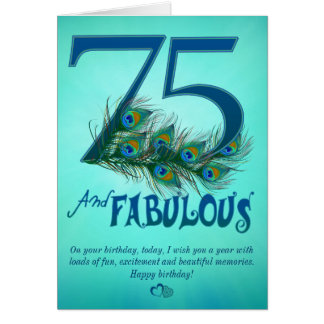 75th Birthday template Cards