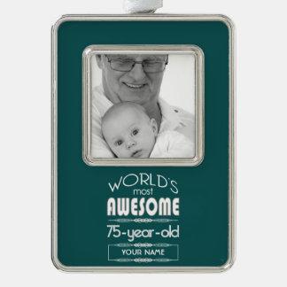 75th Birthday Worlds Best Fabulous Dark Green Ornament