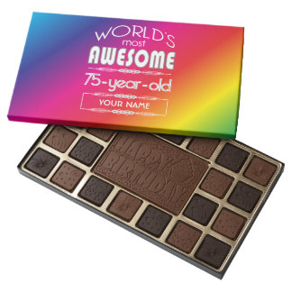 75th Birthday Worlds Best Fabulous Rainbow Assorted Chocolates