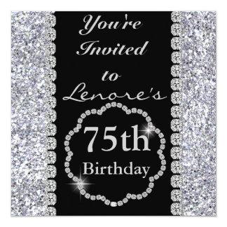 75th BLING Birthday Party Invitation