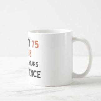 75th cool birthday designs classic white coffee mug