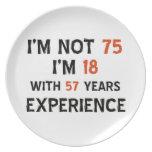 75th cool birthday designs plate
