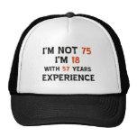 75th cool birthday designs trucker hat