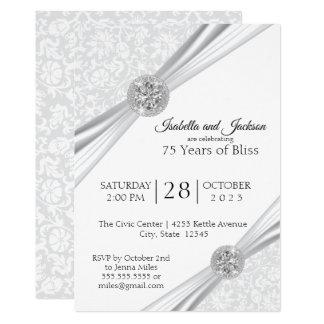 75th Diamond Anniversary Design Invitation