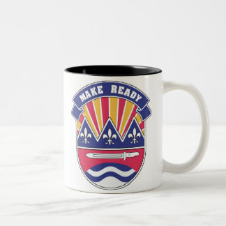 75th DIV, Make Ready Logo Two-Tone Coffee Mug