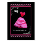 75th Fabulous Birthday with Pink Dress Card