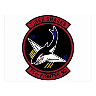 75th Fighter Squadron Tiger Sharks Postcard