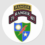75th Infantry Ranger Regiment Scroll Classic Round Sticker