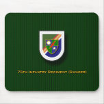 75th Infantry Regiment - Rangers flash Mouse Pad