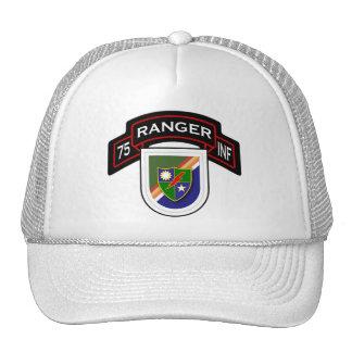 75th Infantry Regiment - Rangers scroll & flash Trucker Hat