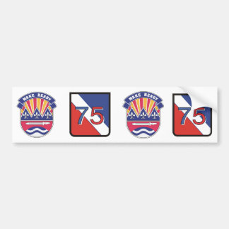 75th Make ready logos Bumper Sticker