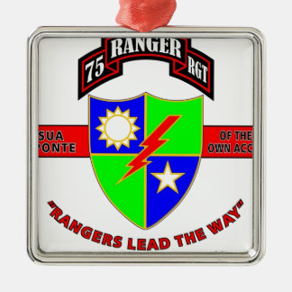 "75TH RANGER BATTALION ""ARMY RANGERS"" CHRISTMAS TREE ORNAMENTS"