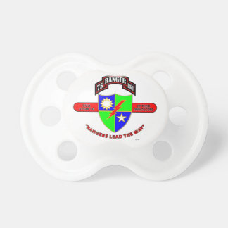 "75TH RANGER BATTALION ""ARMY RANGERS"" BABY PACIFIER"