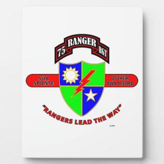 "75TH RANGER BATTALION ""ARMY RANGERS"" PHOTO PLAQUES"