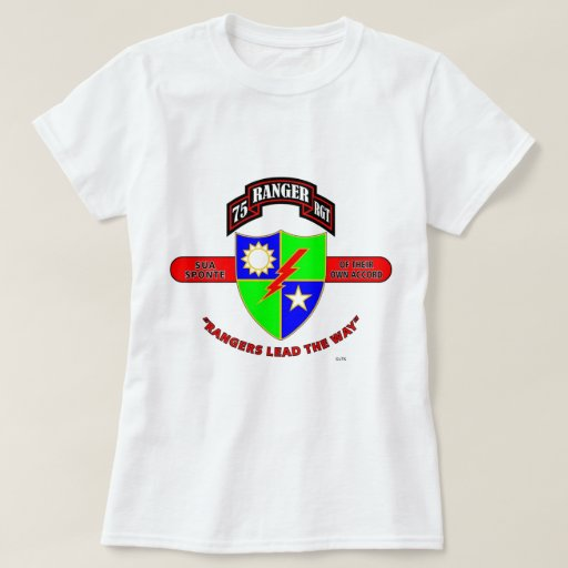 75th ranger battalion army rangers t shirt zazzle for Rangers t shirts women s