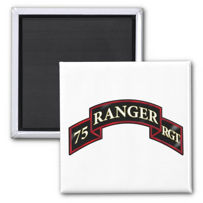 75th Ranger Regiment 2 Inch Square Magnet