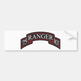 75th Ranger Regiment Scroll Car Bumper Sticker