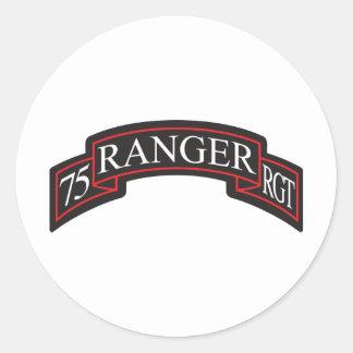75th Ranger Regiment Scroll Classic Round Sticker