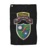 75th Ranger Regiment Tab Scroll & Patch Golf Towel