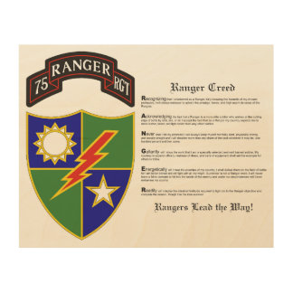 75th Ranger Regiment Wood Wall Art