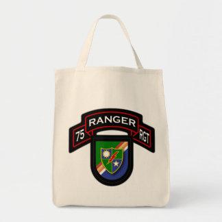 75th Ranger Rgt - scroll & flash Canvas Bags