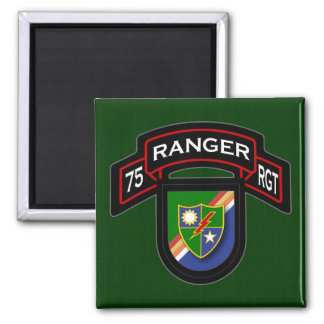 75th Ranger Rgt - scroll & flash Magnet